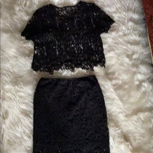 Two piece lace outfit